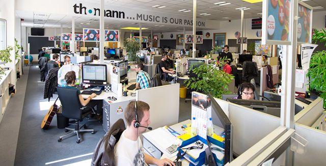 Voici notre centre d'appels international