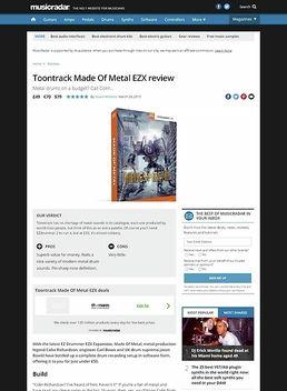 Toontrack Made Of Metal EZX