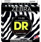 DR Strings Zebra A/E Medium Lite Set