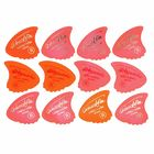 Sharkfin Pick Goldprint Soft Red
