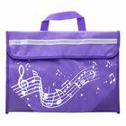 Music Sales Wavy Stave Music Bag (Purple)