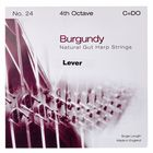Bow Brand Burgundy 4th C Gut Harp String