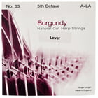 Bow Brand Burgundy 5th A Gut Harp String