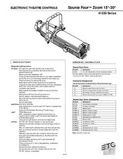 ETC S4 Zoom 15 - 30° Specs