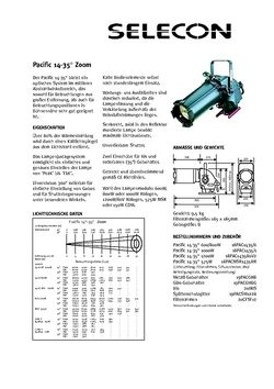 Selecon Pacific 14°-35° Datenblatt