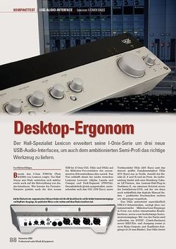 Professional Audio Desktop-Ergonom: Lexicon I-ONIX U42S