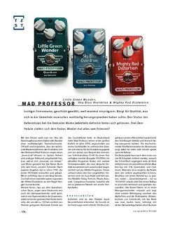 Gitarre & Bass Mad Professor Little Green Wonder, Sky Blue Overdrive & Mighty Red Distortion