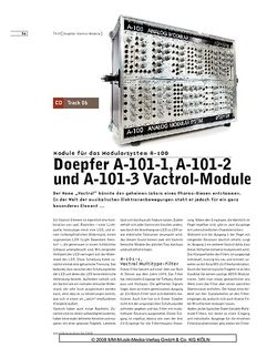Sound & Recording Doepfer A-101-1, A-101-2 und A-101-3 Vactrol Module