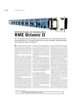 Sound & Recording RME Octamic II