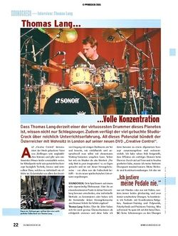 Soundcheck Interview: Thomas Lang - ...Volle Konzentration