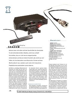 Gitarre & Bass Shadow Sonic Doubleplay, Acoustic-Pickup-System