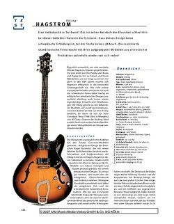 Gitarre & Bass Hagstrom Viking, Halbakustik