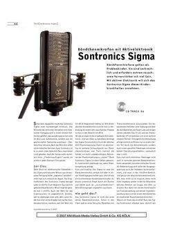 Sound & Recording Sontronics Sigma