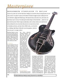 Gitarre & Bass Masterpiece! Duesenberg Starplayer TV Outlaw, E-Gitarre