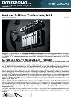 Amazona.de Workshop: Guitar know-how - Tonabnehmer, Teil 2