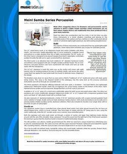 MusicRadar.com Meinl Samba Series Percussion