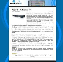 MusicRadar.com Focusrite Saffire Pro 40