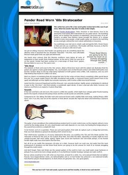 MusicRadar.com Fender Road Worn '60s Stratocaster