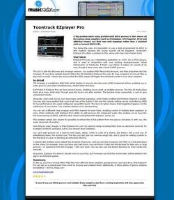 MusicRadar.com Toontrack EZplayer Pro