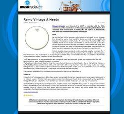 MusicRadar.com Remo Vintage A Heads