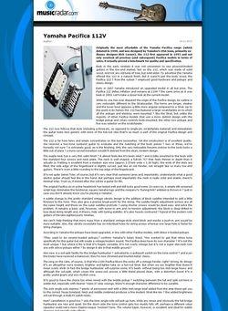 MusicRadar.com Yamaha Pacifica 112V