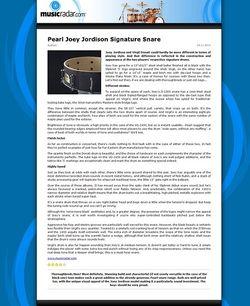 MusicRadar.com Pearl Joey Jordison Signature Snare