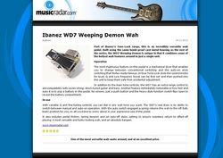 MusicRadar.com Ibanez WD7 Weeping Demon Wah