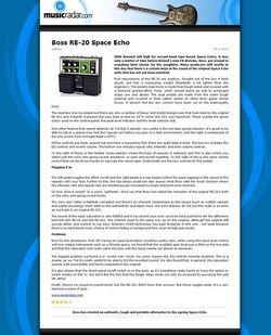 MusicRadar.com Boss RE-20 Space Echo