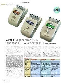 Guitar Test: Marshall RG-1, EH-1 & RF-1 Effektpedale
