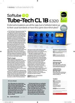 Computer Music TubeTech CL 1B