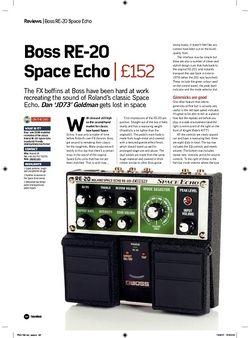 Future Music Boss RE20 Space Echo