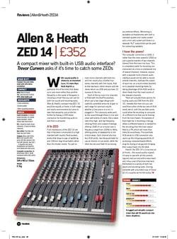 Future Music Allen and Heath ZED 14