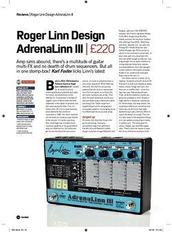 Future Music Roger Linn Design AdrenaLinn 3