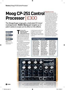 Future Music Moog CP251 Control Processor