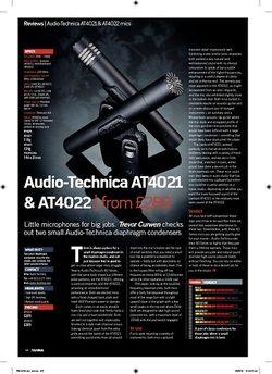 Future Music AudioTechnica AT4021 and AT4022