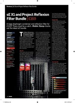 Future Music sE X1 and Project Reflexion Filter Bundle