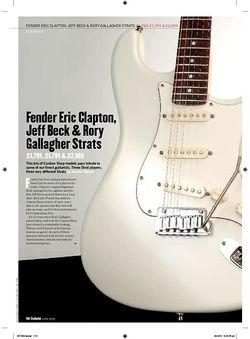 Guitarist Rory Gallagher Tribute Strat