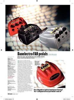 Guitarist Danelectro FAB pedals