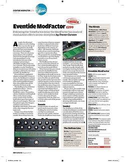 Guitarist Eventide ModFactor