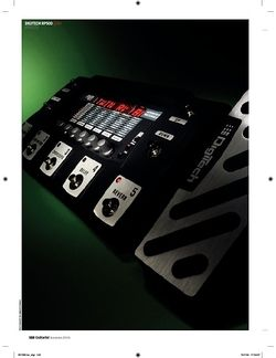 Guitarist Digitech RP500