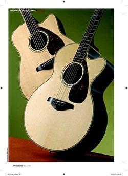 Guitarist Yamaha FJX730SC