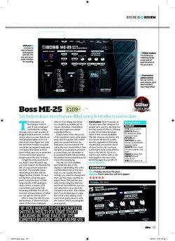 Total Guitar Boss ME25