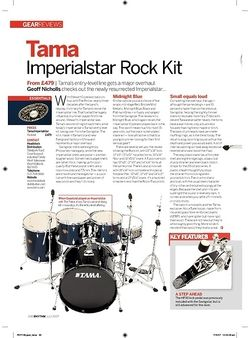Rhythm Tama Imperialstar Rock Kit