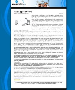 MusicRadar.com Tama Speed Cobra