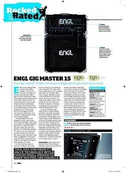 Total Guitar Engl Gig Master 15 head