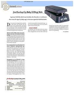 Guitar Test: Jim Dunlop Cry Baby GCB-95 Wah