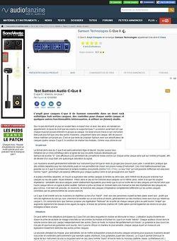 Audiofanzine.com Samson Audio C-Que 8