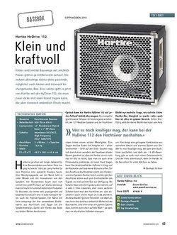 Soundcheck Test: Hartke HyDrive 112 - Klein und kraftvoll