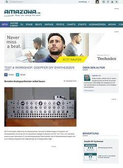 Amazona.de Test: Doepfer DIY Synthesizer