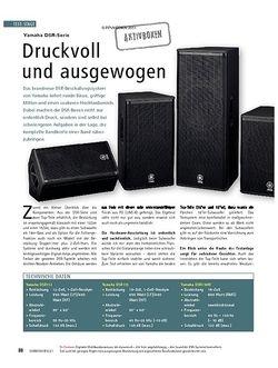 Soundcheck Test: Yamaha DSR-Serie - Druckvoll und ausgewogen
